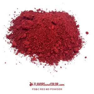FLAVORS AND COLOR-RED #3 POWDER